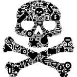 Concept of human skull — Stock Vector