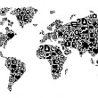 Concept of World map — Imagen vectorial