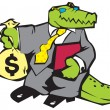 Royalty-Free Stock Vector Image: Crocodile in grey suit.
