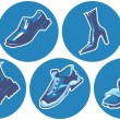 Icon set of shoes — Stock Vector