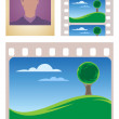 Stock Vector: Photo and movie frames