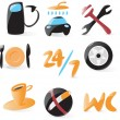 Smooth car service icons — Stockvectorbeeld