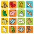 Set of icons with food and drinks — Stock Vector