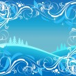 Royalty-Free Stock Векторное изображение: Winter ornate background