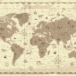 mapa del mundo antiguo — Vector de stock  #2744616