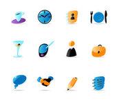 Affärskontakter och möte ikoner — Stockvektor