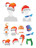 Christmas and Halloween decorations — Stock Vector