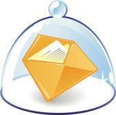 Иконка Письмо под колокол стекло — Cтоковый вектор