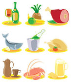 Icons for restaurant menu — Stock Vector