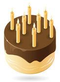 Chocolate cake — Stock Vector
