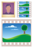 Photo and movie frames — Stock Vector