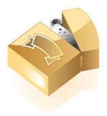 Isometric icon of lighter — Stock Vector