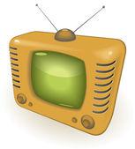 Retro Tv — Stok Vektör