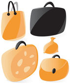 Smooth bags icons — Stock Vector