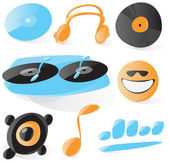 Smooth dj icons — Stock Vector