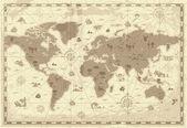 Kaart van de oude wereld — Stockvector