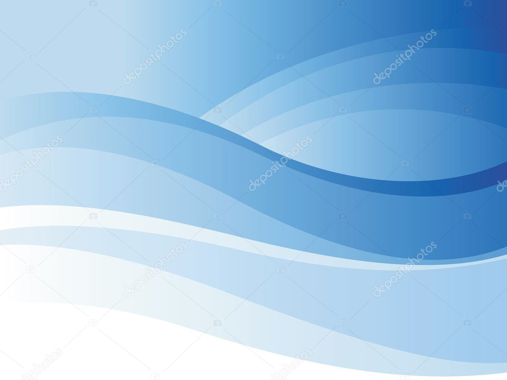 Background of blue wave. Vector illustration. — Stok Vektör #2744066