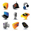 Royalty-Free Stock Vector Image: Icons of media devices