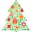 Royalty-Free Stock Vector Image: Christmas tree of icons