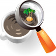 Royalty-Free Stock Vector Image: Coffee cup with tropic island
