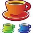 Stock Vector: Colorful vectors: coffee cups