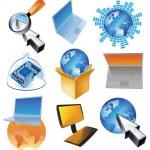 电脑业务的概念 — 图库矢量图片