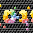 Cubes 2010: vector seamless background — Stockvectorbeeld