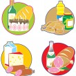 Icons with foods and drinks. — Stock Vector #2781130