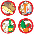 Icons with foods and drinks. — Stock Vector #2781139