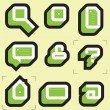Stock Vector: Grid icons for web