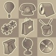 ストックベクタ: Monochrome miscellaneous icons