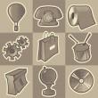 monochromatický různé ikony — Stock vektor