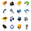 Realistic icons set for various devices — 图库矢量图片