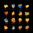 Royalty-Free Stock Vector Image: Realistic icons set for books and papers