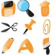 Smooth file operations icons — Stock Vector