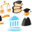 Stock Vector: Smooth law icons