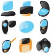 Royalty-Free Stock Vector Image: Smooth pc peripherals icons