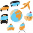 Smooth transportation icons — Stock Vector