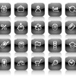 Royalty-Free Stock Vector Image: Stencil black buttons for business