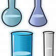 Stock Vector: Vector objects for chemical lab