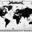 carte du monde antique noir — Vecteur