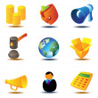 Online auction icons — Stock Vector