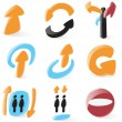 Royalty-Free Stock Vector Image: Smooth directions icons