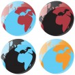 Royalty-Free Stock Vector Image: Smooth globe icons
