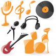 Stock Vector: Smooth music icons