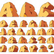 Alphabet made of stone - Imagen vectorial