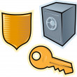 Stock Vector: Vector objects for security