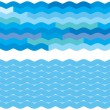 Blue wave backgrounds — ストックベクタ