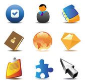 Business contacts icons — Stock Vector