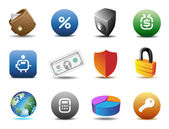 Finance and security icons — Stock Vector